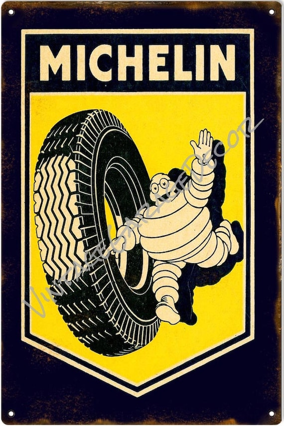 """/"""" MICHELIN TYRE SERVICES /"""" Metal Garage Sign 8/"""" x 12/"""" or 20cm x 30cm"""