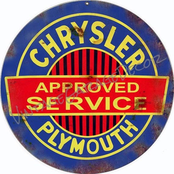 Dodge Approved Service Sign Car Truck Parts Tools DeSoto Vintage Style Garage