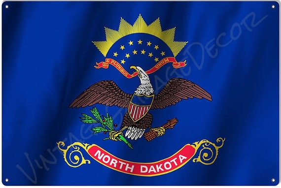 North Dakota State Flag Cufflinks