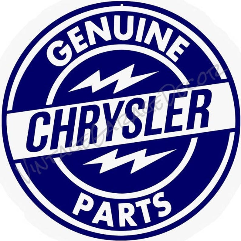 Antique Style Chrysler Genuine Parts Round Vintage Advertising