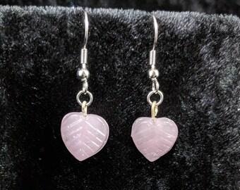 Glass heart earrings #246
