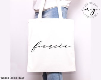 Girlfriend to Fiance Engaged Tote Bag