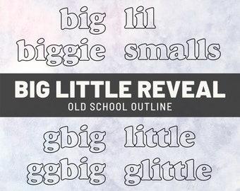 Sorority Little Sister SVG | Greek Life Family Tree Gifts | Big Lil Reveal Shirts | Biggie Smalls Gbig GGbig Glittle PNG | DIY Digital File