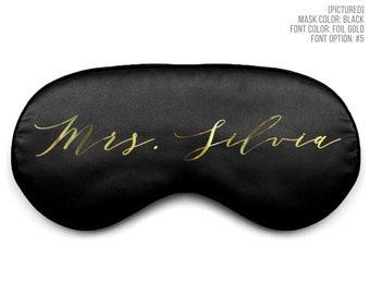 Custom Name Sleep Mask | Personalized Silk Eye Mask | Bachelorette Party Favor | Bridal Shower Gift | Bridesmaid Proposal Gifts | Girls Trip