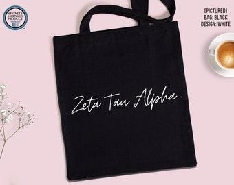 Sorority Tote Bag | Greek Letters Canvas Bag | Custom Sorority Name | Greek Life Tote | Bid Day Party | Big Little Reveal | Sorority Gifts
