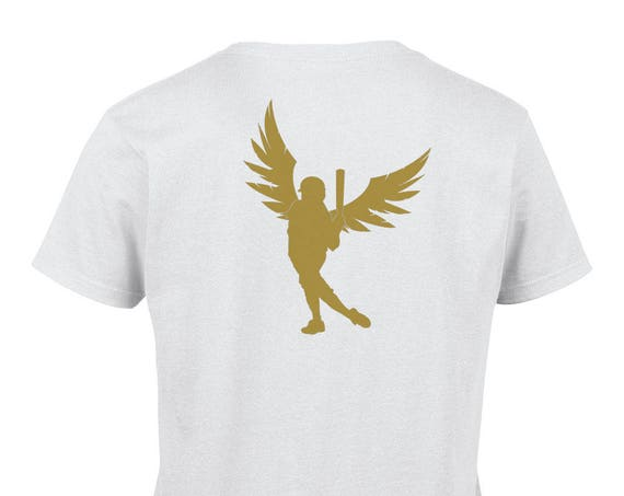 Ladies T-Shirt With Gold Slapper Print on Back