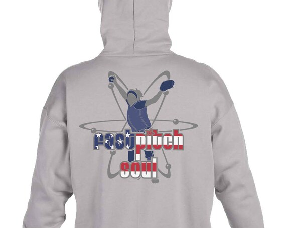 Hanes Heavyweight Pullover Hoodie With Back Print Nuclear Pitcher