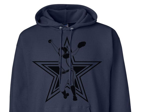 Hanes Heavyweight Pullover Hoodie With Front Print Star Pitcher