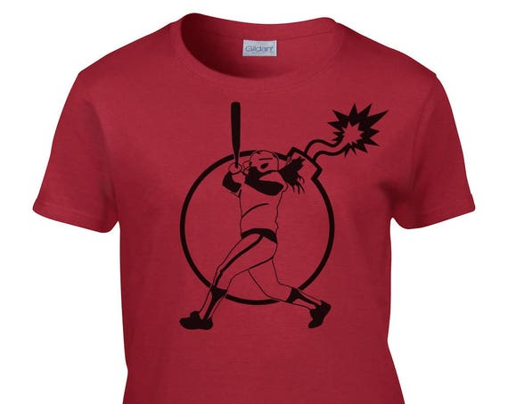 Ladies T-Shirt With Bomb Batter Front