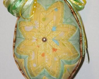 Folded Fabric Easter Egg, Fabric Egg, Easter Decor, Easter Egg Decor