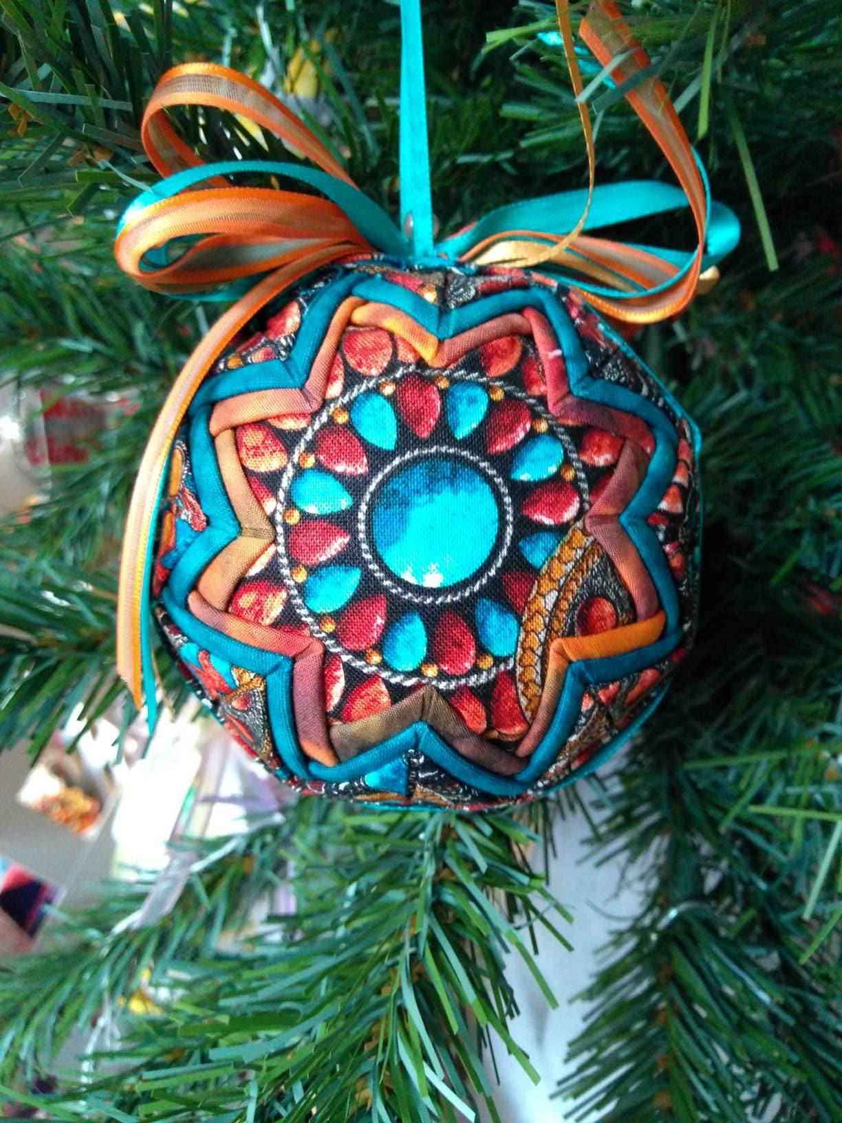 No Sew OrnamentFolded Fabric Ornament Southwest theme | Etsy