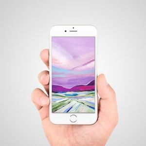 Phone Wallpaper Desert Cactus Digital Download Etsy
