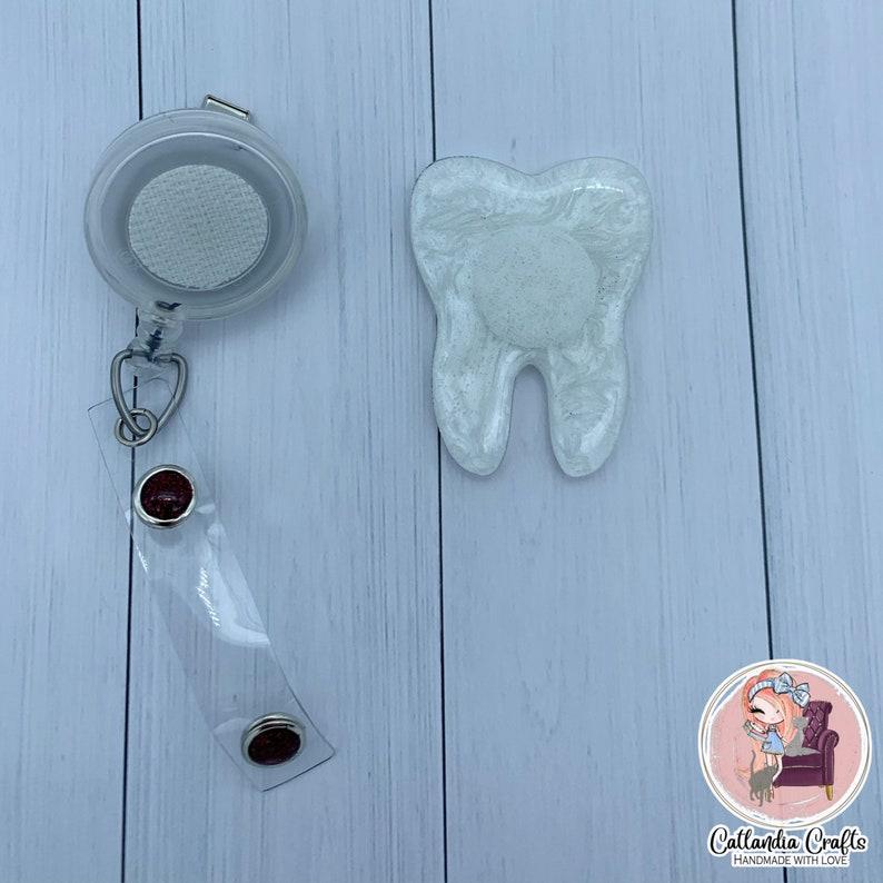 Tooth Badge Reel dental badge reel dental hygienist badge reels dental assistant badge reels-Interchangeable Badge Reel