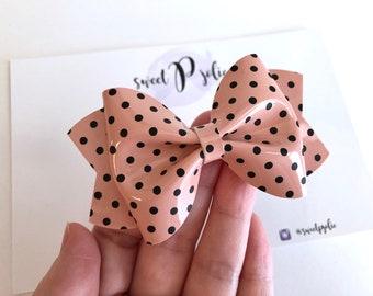 Leopard Print Fine Glitter Print Hair Bow  Valentines Day Glitter Hair Clip Headband  Large Girls Bow Headband