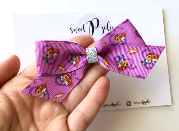 Disney Mary Poppins Inspired Girls Glitter Hair Bow
