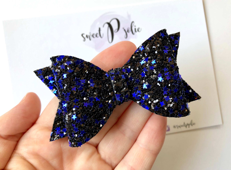 Baby Barrette Girl Hair Clip Thin Blue Line Hair Clip OR Headband Baby Girl Hair Clip Police Bow No Slip Hair Clip Toddler Hair Clip