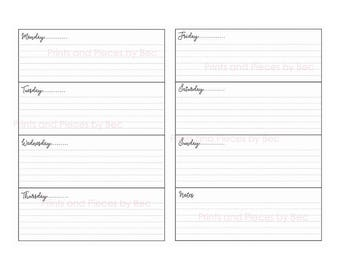 photo relating to Weekly Planner Page identify Weekly planner webpages Etsy