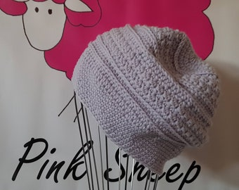 Woollen Textured Winter Slouchy - Handcrafted Crocheted Hat Beanie