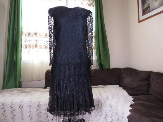 David Rose Flapper Dress, vintage dress, flapper d