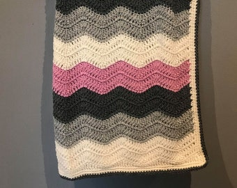 Merino wool baby blanket. 85*70 cm/33,5*27 inches.