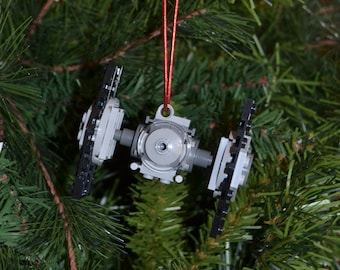 TIE Fighter Christmas Ornament with Instructions - Build Your Own with LEGO® Bricks!