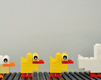 Easter Ducks - Build Your Own with LEGO® Bricks