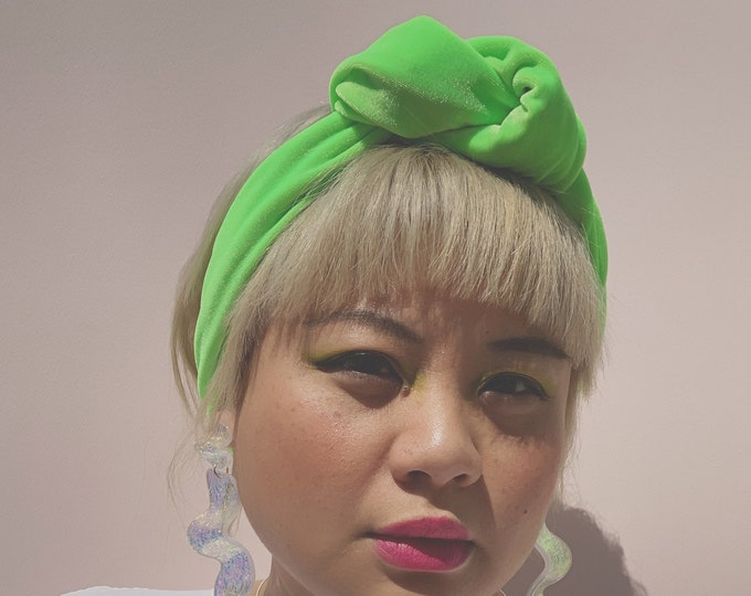 The Lisa, neon lime headwrap