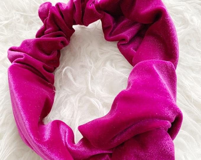 Candy Pop Signe- Adjustable Velvet Headwrap