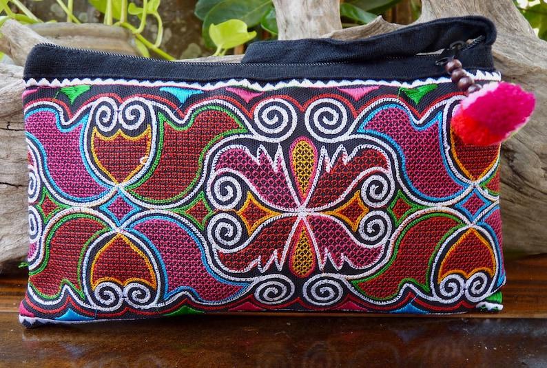 4b790327df5c5 Bunte Thai Handtasche bestickt Boho Geldbörse ethnischen