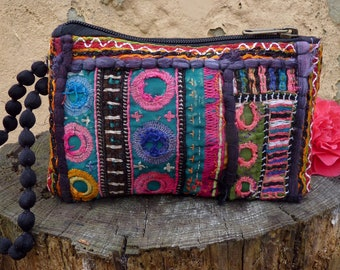 Boho vintage Afghani purse, embroidered purse, Indian purse, tribal purse, ethnic purse, bohemian purse