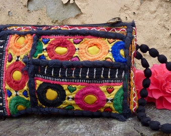 Vintage Afghani purse, boho purse, embroidered purse, Indian purse, tribal purse, ethnic purse, bohemian purse