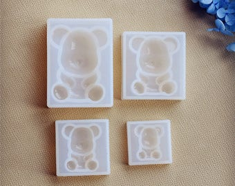 Standing bear Silicone Mould handmade DIY Resin Jewelry