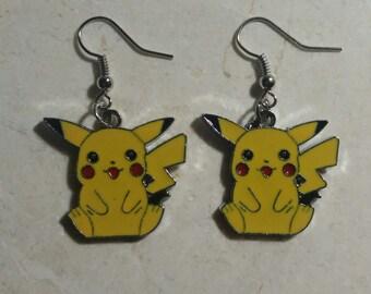Pokemon/Pikachu inspired earrings