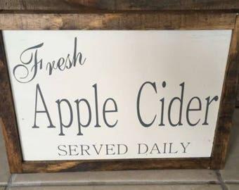 Fresh Apple Cider sign