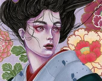 Hand Embellished Prints - Dusk - Limited edition