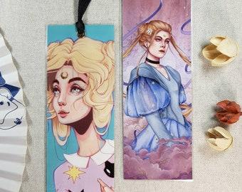 Sailor moon bookmarks - laminated bookmarks