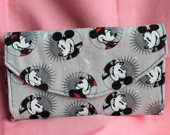 Disney Mickey & Minnie Mouse Necessary Clutch Wallet with 10 card slots and zipper pockets NCW EDC