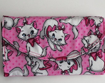 Disney Marie Wallet The Aristocats Necessary Clutch Wallet with 10 card slots and zipper pockets EDC NCW