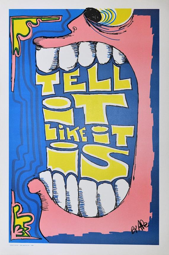 Vintage 1970/'s Vagabond Creations Rare N.O.S Poster Classic Keep On Truckin!!!