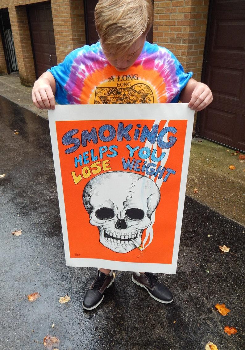 """Rare NOS Original 1971 Super Freak Marijuana Hippy Poster Lrg Size Pin-up 35/""""x23"""