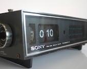 Classic 1972 Sony dark-grey flip-radio-alarm-clock, the Beast from the Far East 8FC-59WA