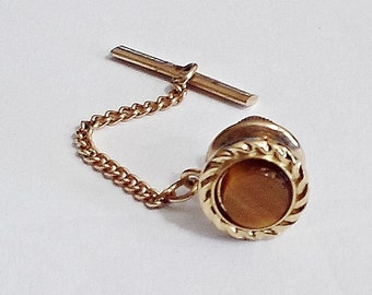 Tiger Eye Shawl Pin Cardigan Pin Scarf Pin Bronze Pin Turquois Pin Stick Pin Hijab Pin Sweater Pin Coat Lapel Pin Wrap Pin Gemstone Pin