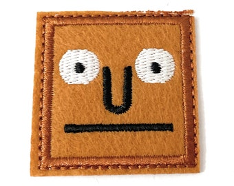 Square Face Patch Iron On Patch Embroidered Patch Jacket Patch Clothes Patch Applique mask patch   74