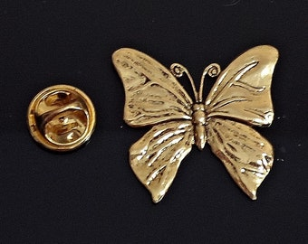 2877d91519f Amazing Details BUTTERFLY Lapel Pin Tack Pin / E23