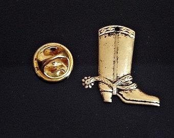 c25b192e6212 Amazing Details Rare WESTERN BOOT Lapel Pin Tack Pin / E23