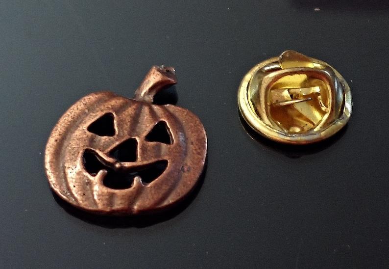 Amazing Details HALLOWEEN Pumpkin JACK O LANTERN  Lapel Pin Tack Pin Tie Tack  E50