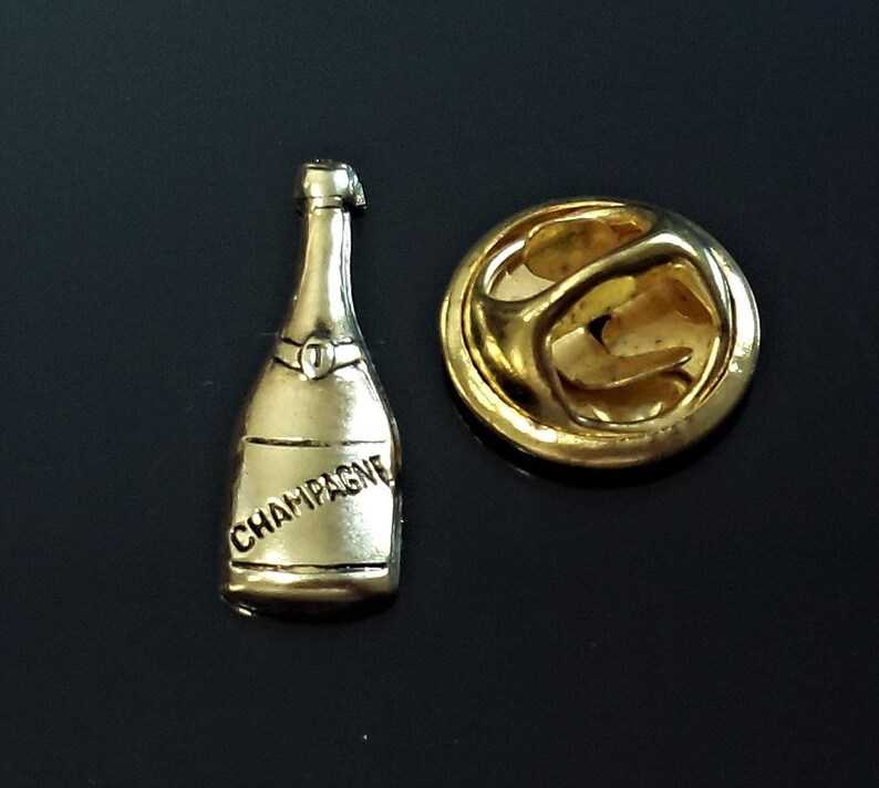 Amazing Details Champagne Lapel Pin Tack Pin Tie Tack  E63