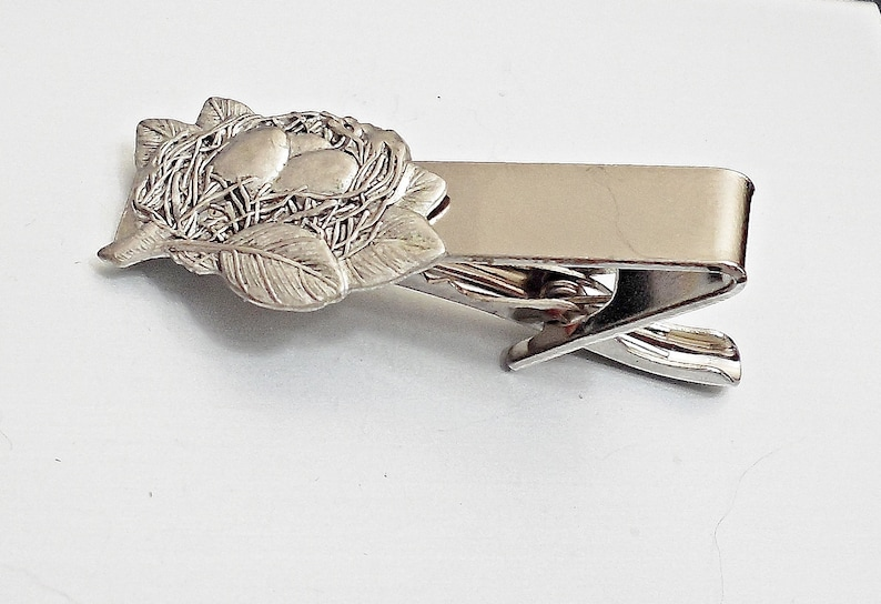 Tie barM15 Amazing birds nest Tie CLIP Pins