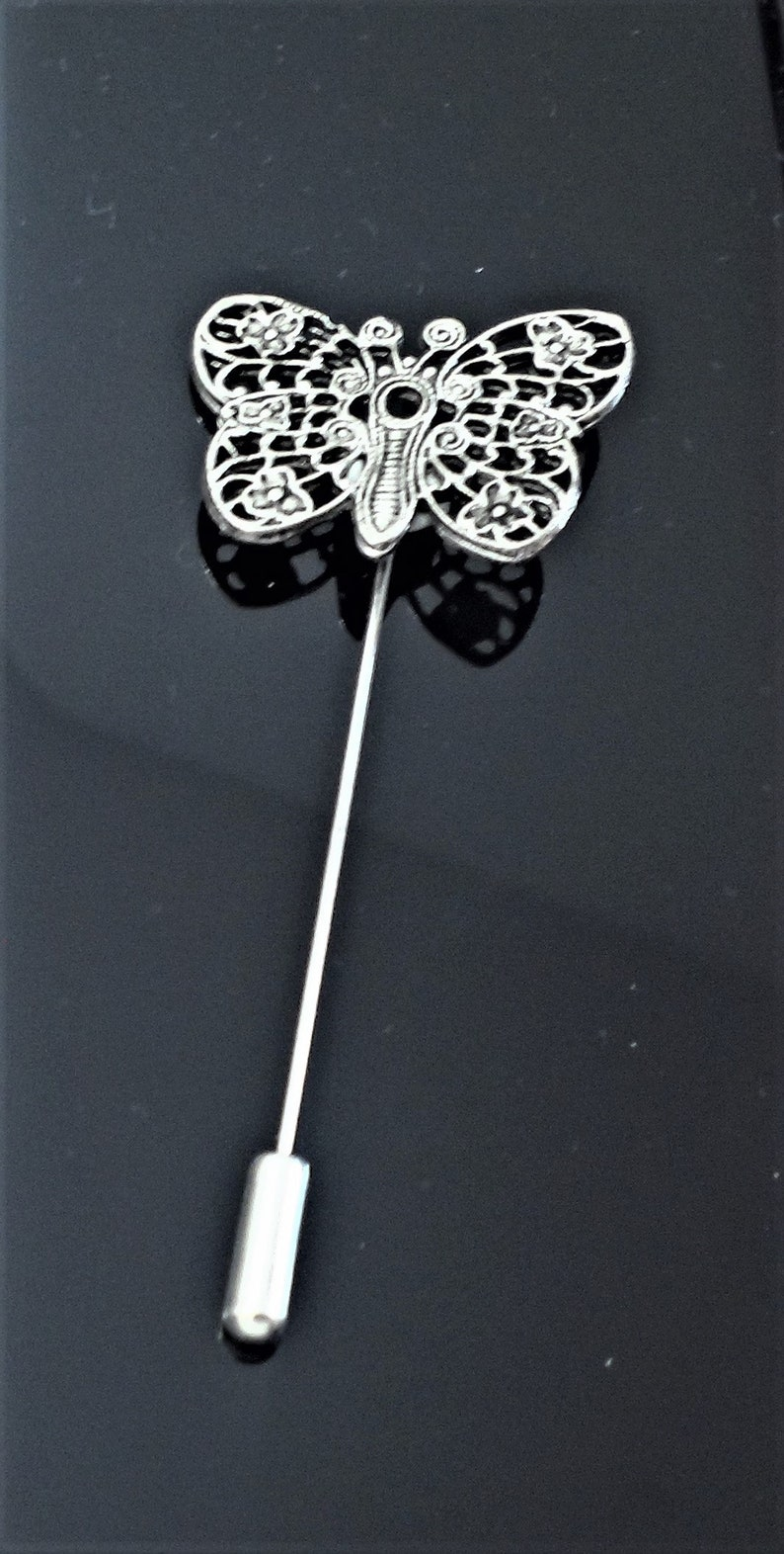 Amazing Details BUTTERFLY Stick Pin Lapel Pin Tack Pin Tie Pin  D 025