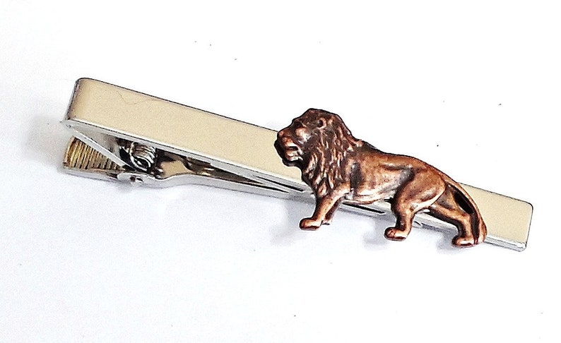 7f092238c65f LION Tie Clip Pins Tie bar /E21 | Etsy